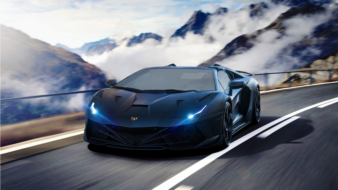 Lamborghini Aventador Supercar Wallpaper HD Car Wallpapers 1366x768