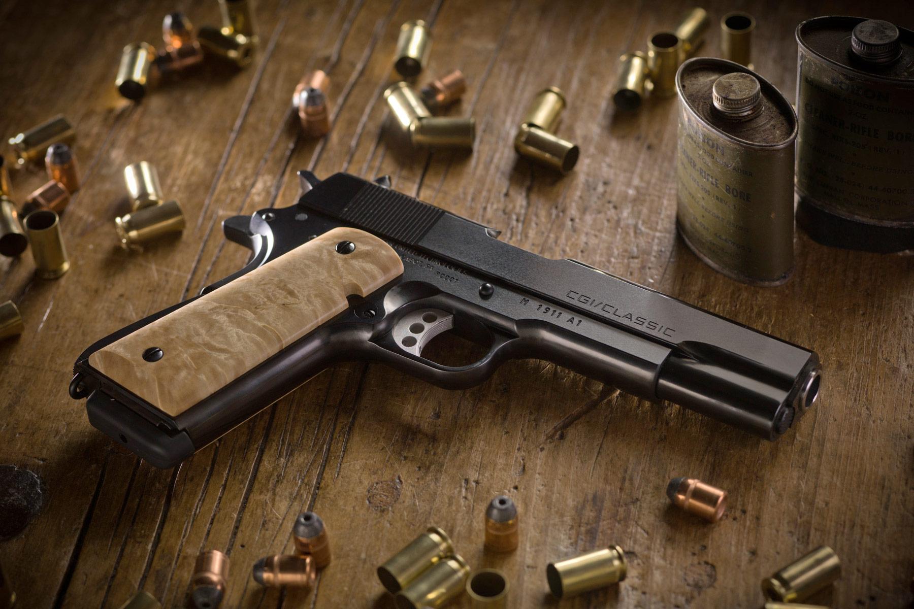 1911 pistol background wallpaper hd wallpapers cgi classic 1911 pistol 1800x1200