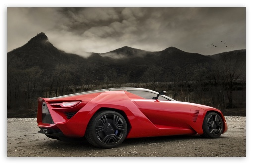 Red Supercar HD desktop wallpaper High Definition Fullscreen 510x330