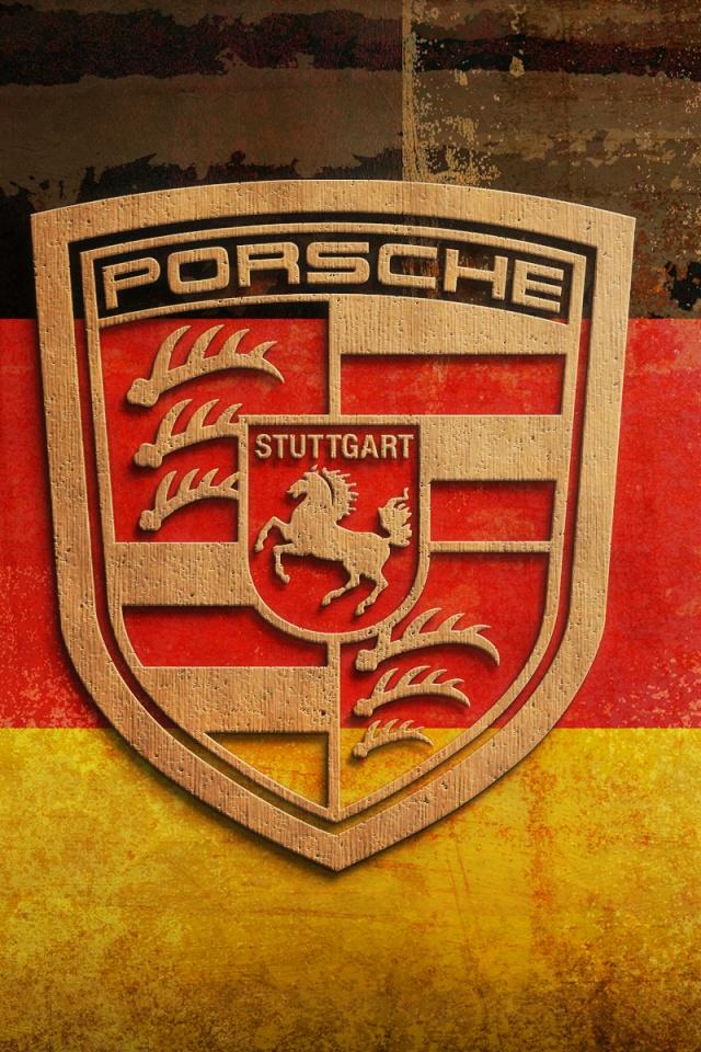 Porsche Logo Iphone Wallpaper 640x960