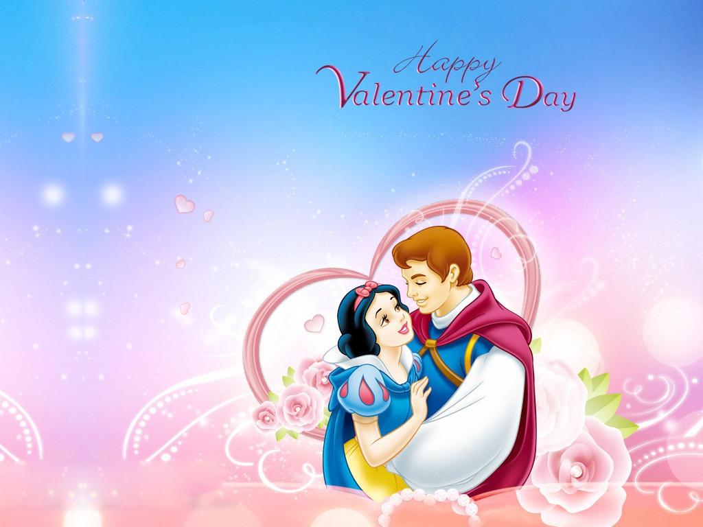 Disney Valentines Day Sweet Love Couple Wallpaper   Valentine Day 1024x768