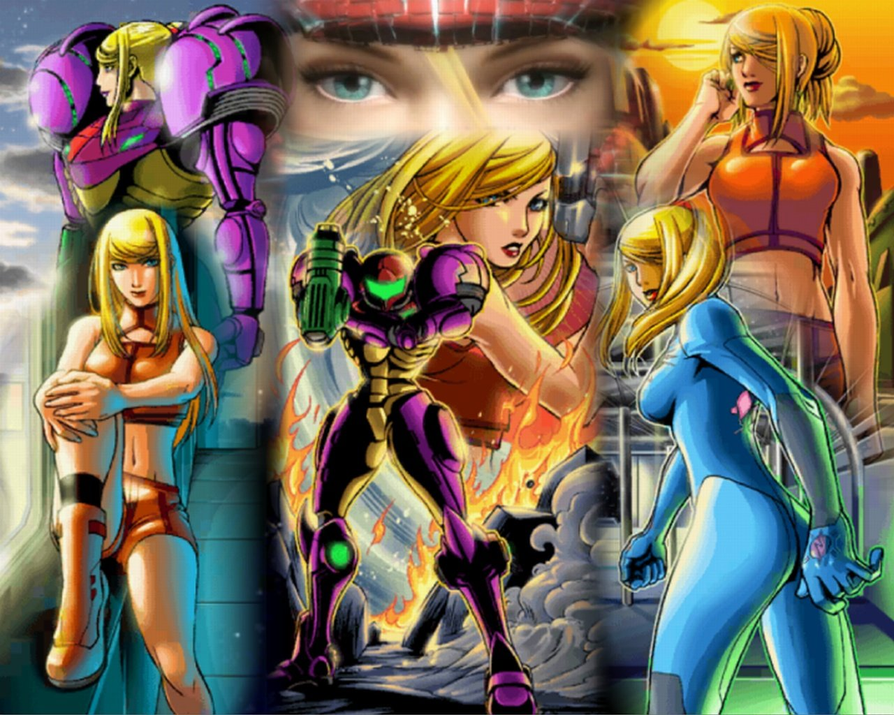 blonde zelda and samus naked
