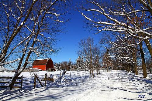 Winter Barn Scenes Wallpaper Wallpapersafari