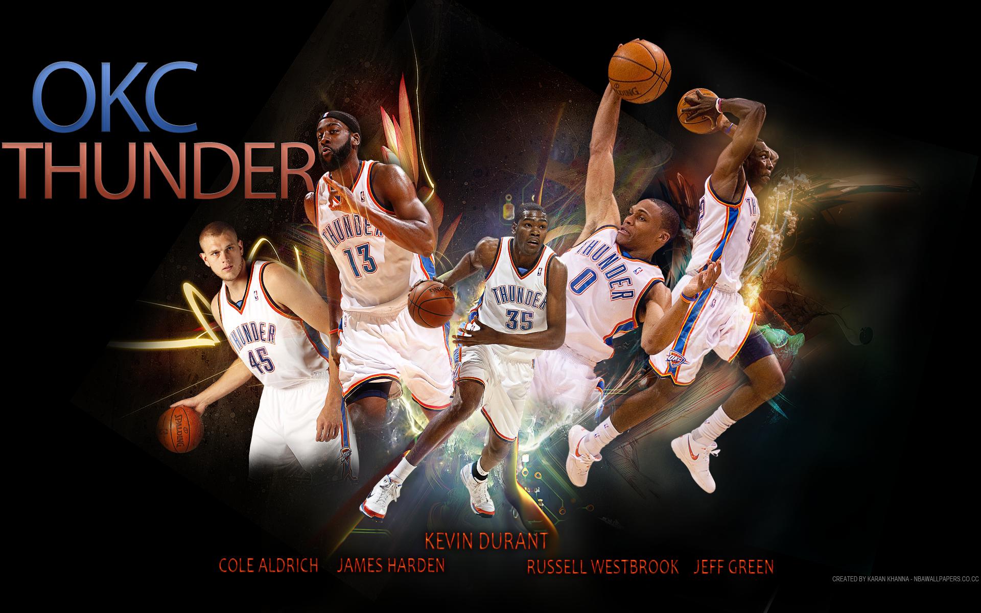 OKLAHOMA CITY THUNDER basketball nba fn wallpaper 1920x1200 158431 1920x1200
