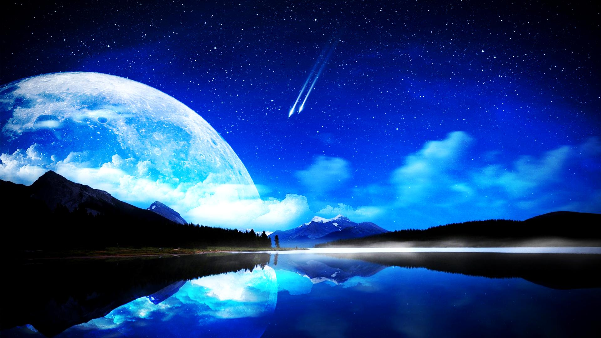 Обои Звездное небо над землей картинки на рабочий стол на тему Космос - скачать  № 1768283 бесплатно