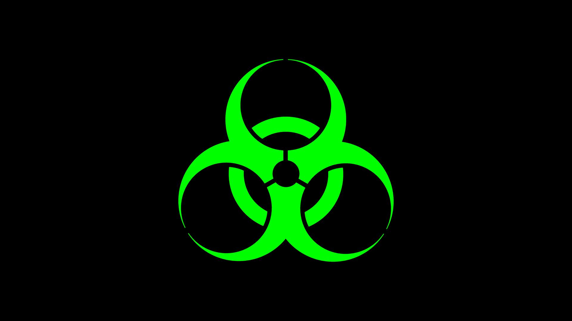 Green Biohazard Logo Wallpaper Biohazard wallpaper 1920x1080