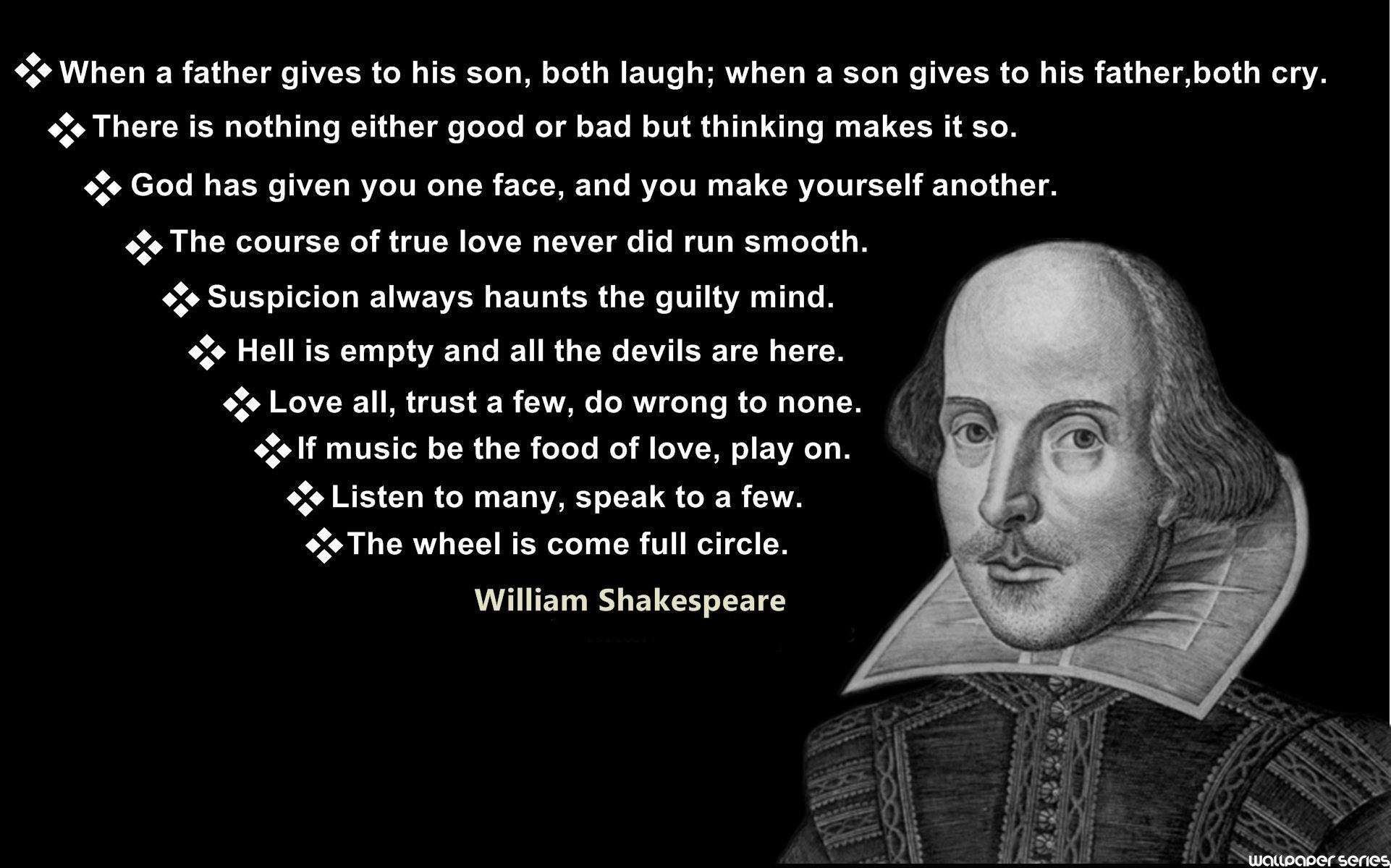 William Shakespeare Top Quotes Wallpaper 10940   Baltana 1922x1200