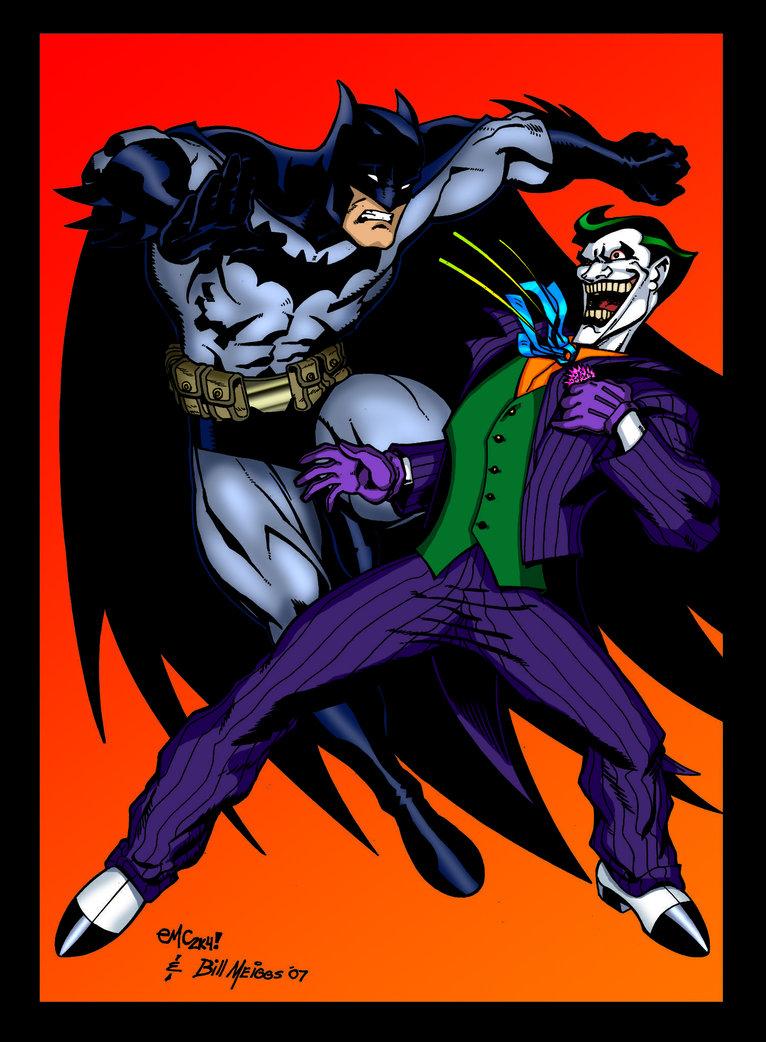 Batman VS The Joker colored by Balsavor 766x1042