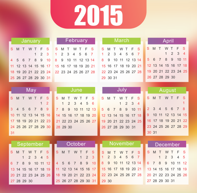 Desktop Calendar 2015 650x639