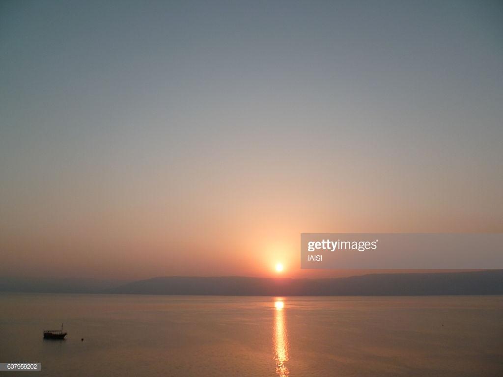 Sunrise On The Sea Of Galillee Lake Tiberias Kinneret Stock Photo 1024x768