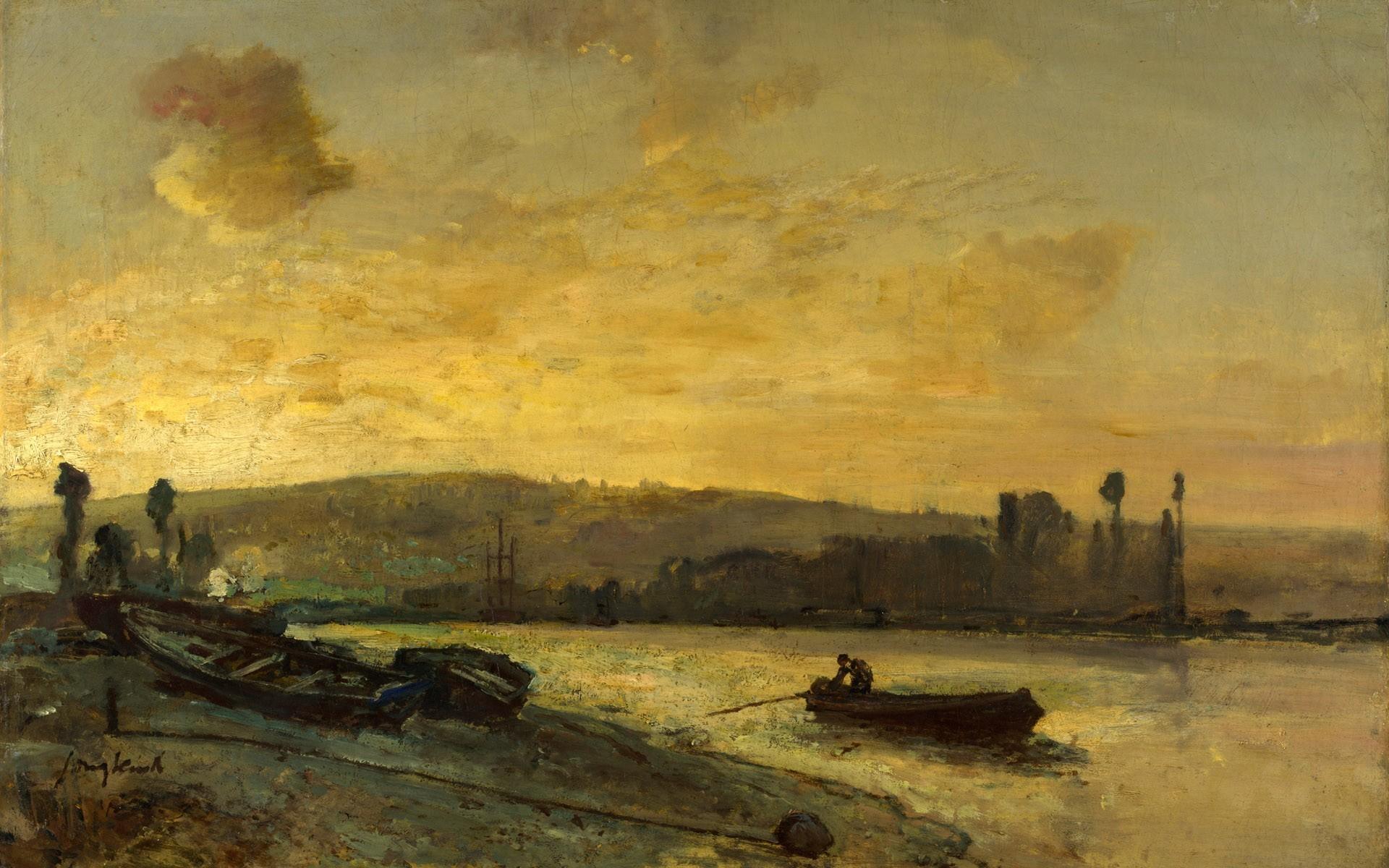Boats paintings renaissance vehicles wallpaper 1920x1200