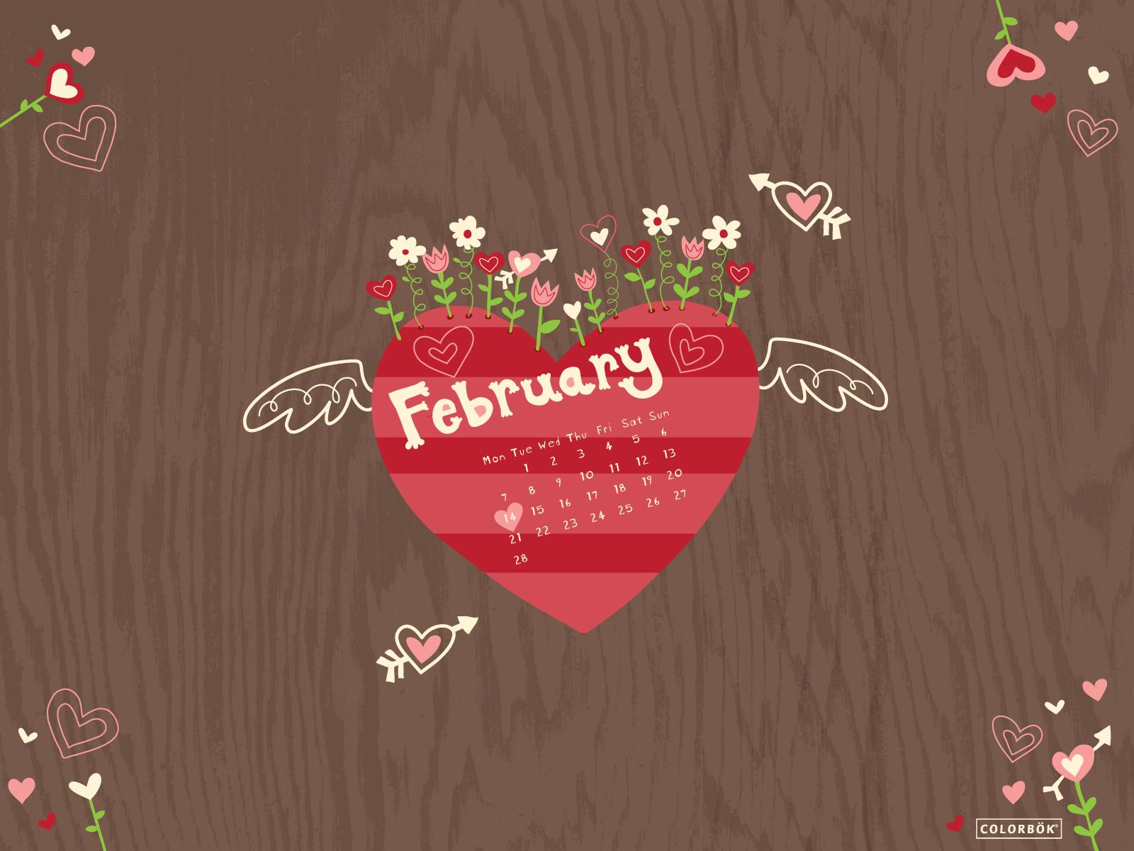February Wallpapers Calendar 2013 1600x1200