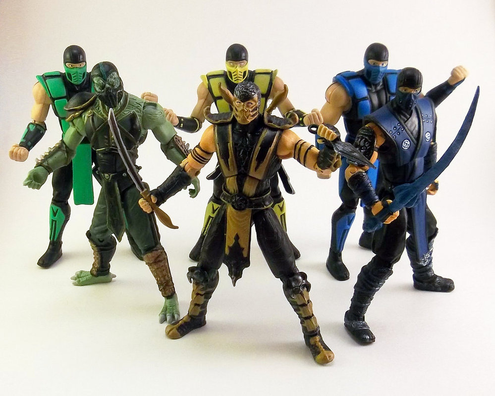 Mortal Kombat 4 Inch Action Figures Through Time by TiggerCustoms on 999x800