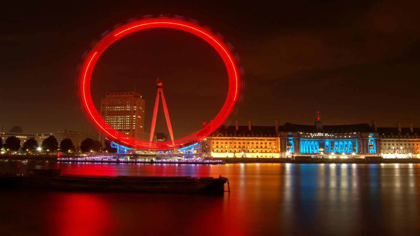 London Eye Wheel Wallpaper   Travel HD Wallpapers 1366x768
