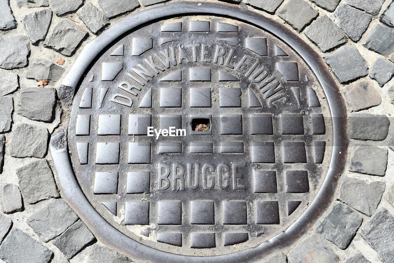 Brugge Brugge Belgium Drain Cover Backgrounds on EyeEm 1280x853