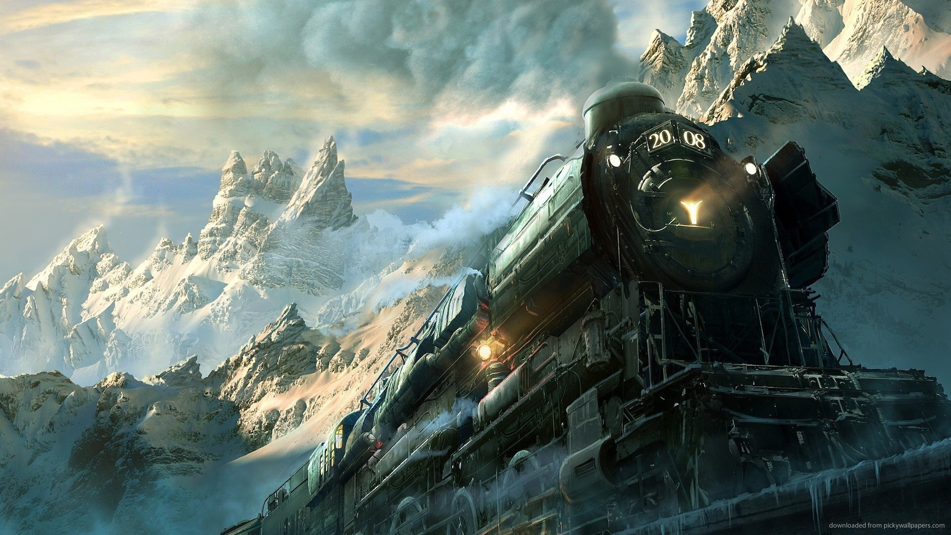 Blackberry iPad Epic Train Art Screensaver For Kindle3 And DX 1920x1080