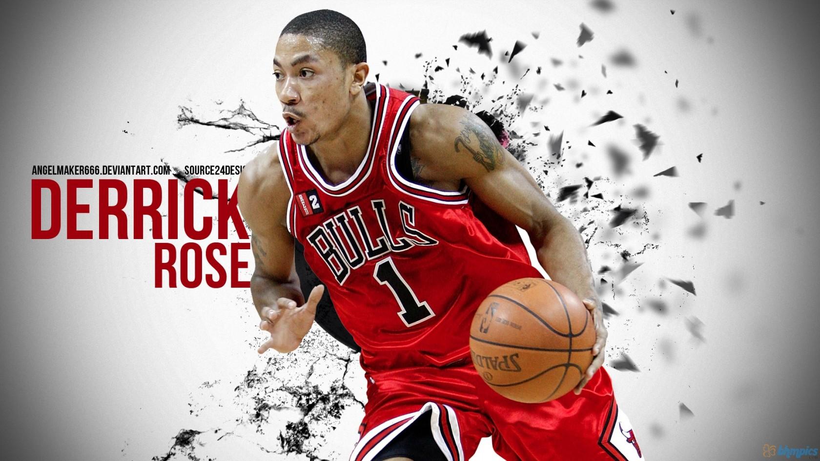 Derrick Rose Chicago Bulls HD Wallpaper of Sports   hdwallpaper2013 1680x945