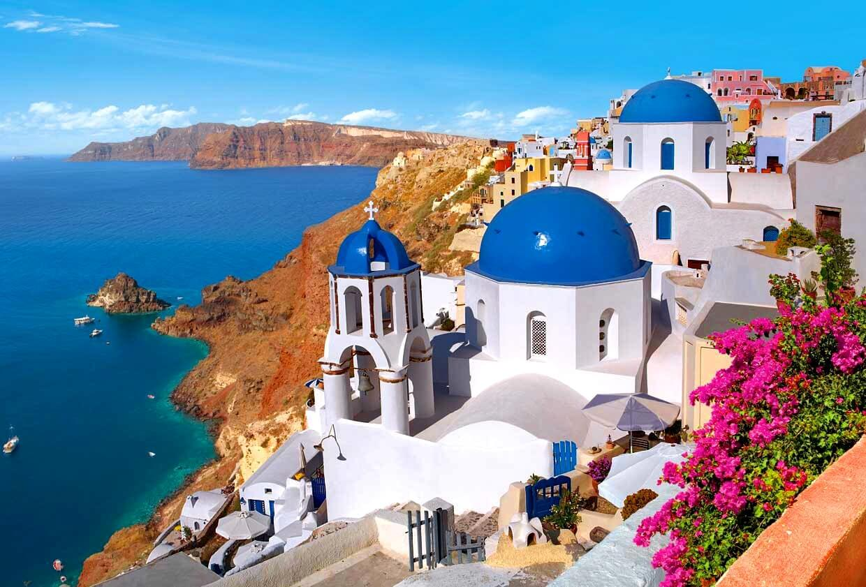 Free Download Town Oia Santorini Island Greece Wallpaper