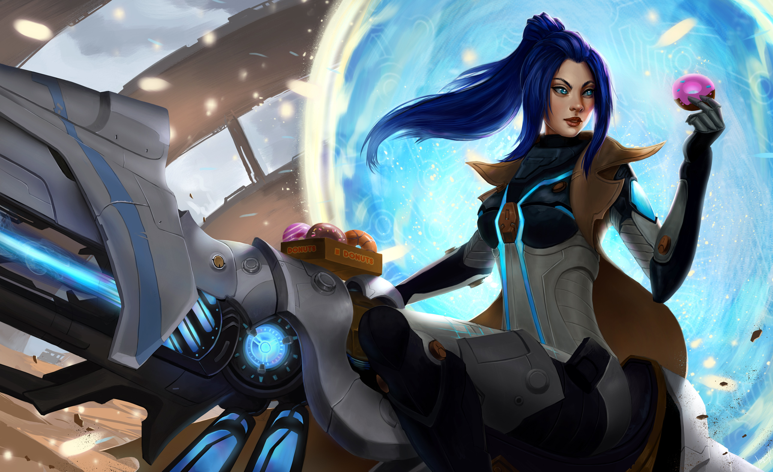 Free Download Pulsefire Caitlyn Lol Wallpapers 2577x1576 For