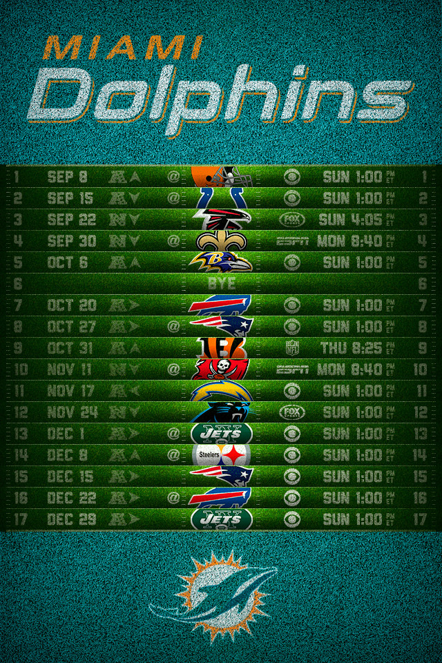 Miami Dolphins 2013 Football Schedule 640x960