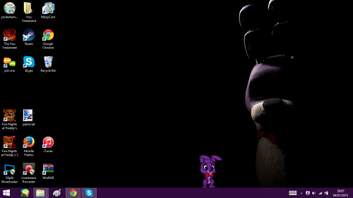 Background Bonnie is just watching the little Bonnie shimeji I made 500x281