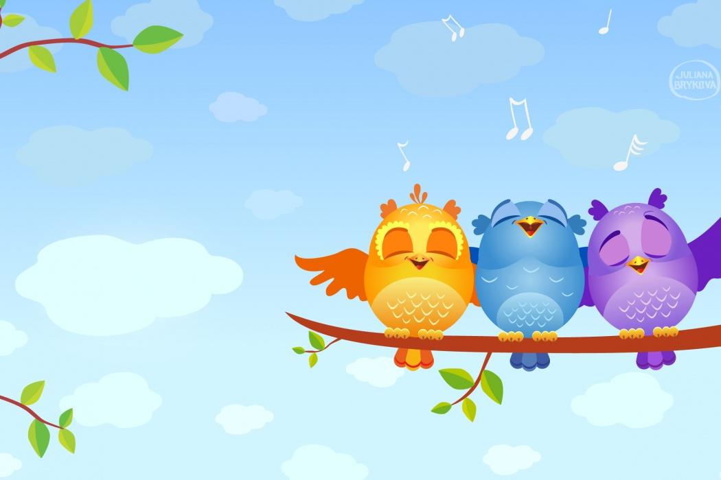 wallpaper, musical, birds, animated, tree, branch, leaves wallpaper ...