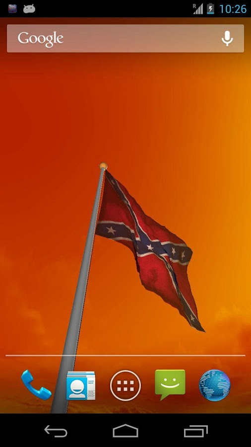 brand new real 3D Rebel Flag Live Wallpaper which you can view in 506x900