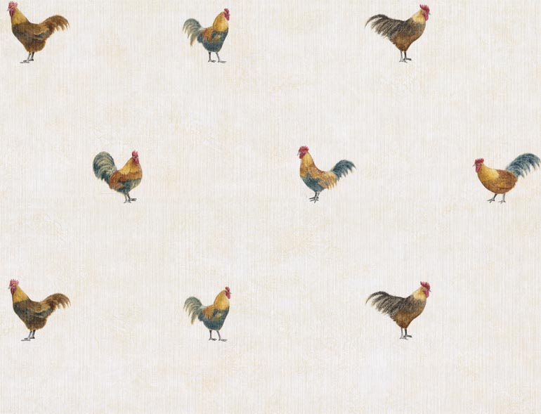Details about KITCHEN Country Roosters Wallpaper TRY8756 770x589