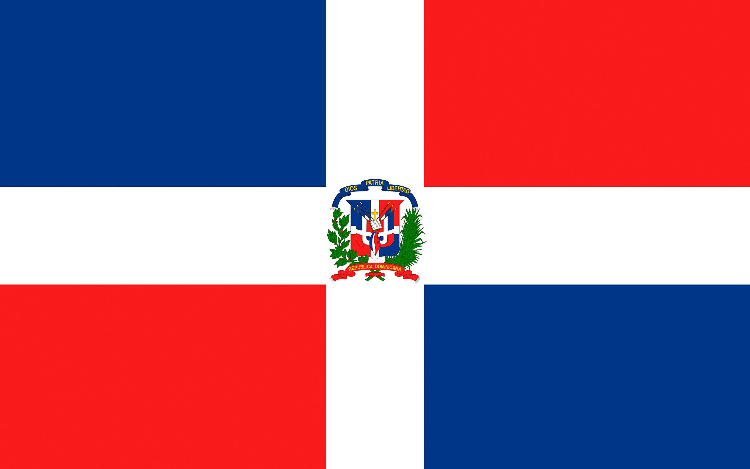 Wallpaper Dominican Republic Flag Cross 2560x1600 2560x1600