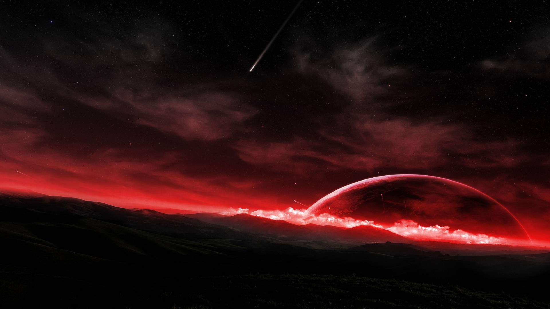 space red stars star shooting star wallpaper jpg Black Background 1920x1080