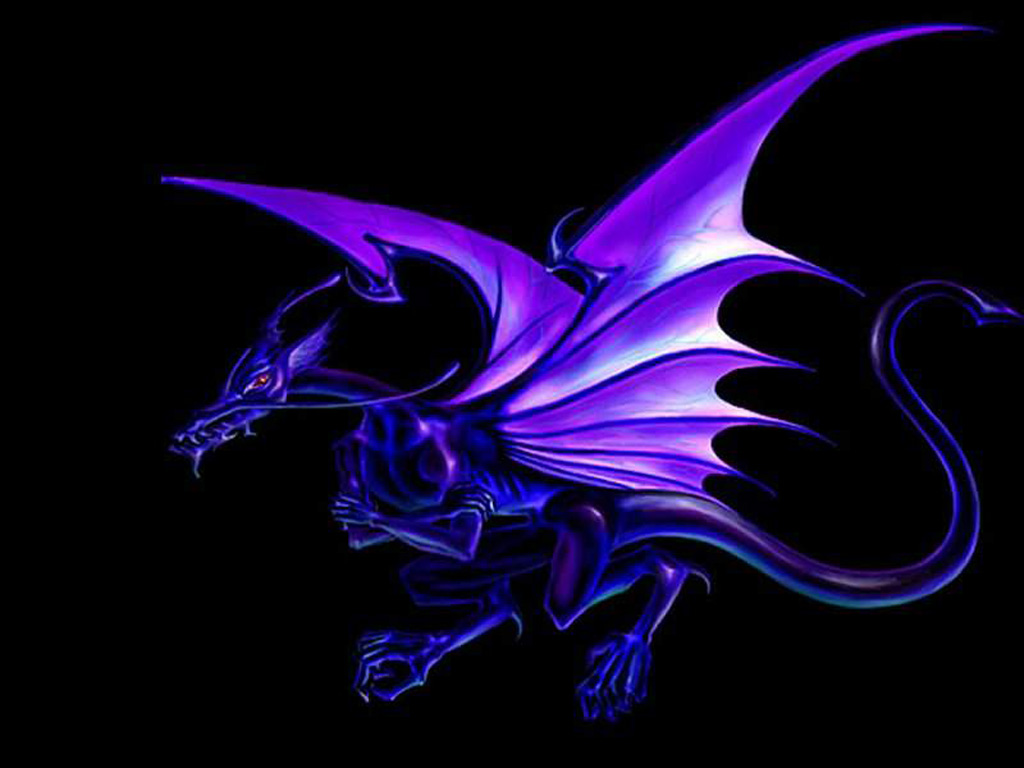 Free Download Cartoon Picture Puple Dragon Wallpaper