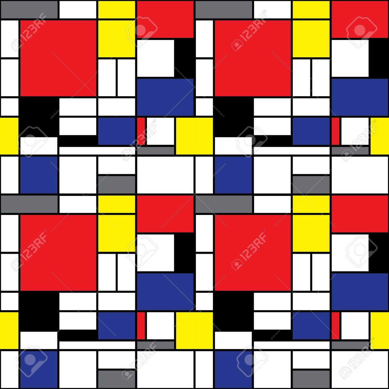 Seamless Mondrian Background Royalty Cliparts Vectors And 1300x1300