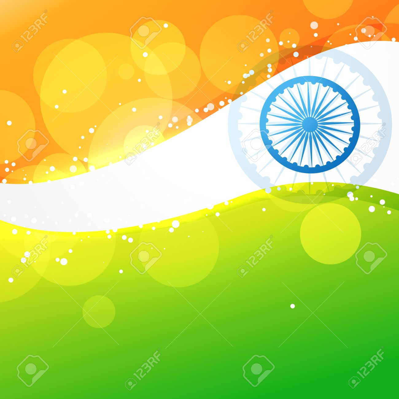 India Flag In Creative Style Vector Background Royalty 1300x1300
