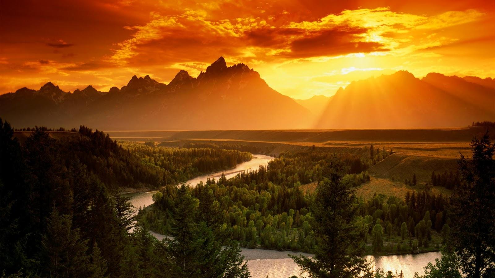 Mountain Sunset HD Wallpaper MYwallpaperPicsBlogspotcom 1600x900