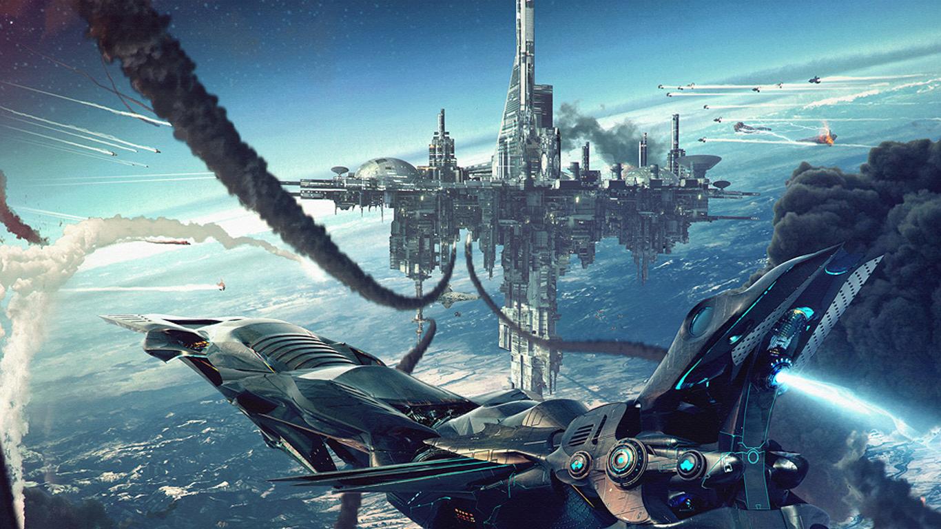 Sci Fi   Spaceship Wallpaper 1366x768