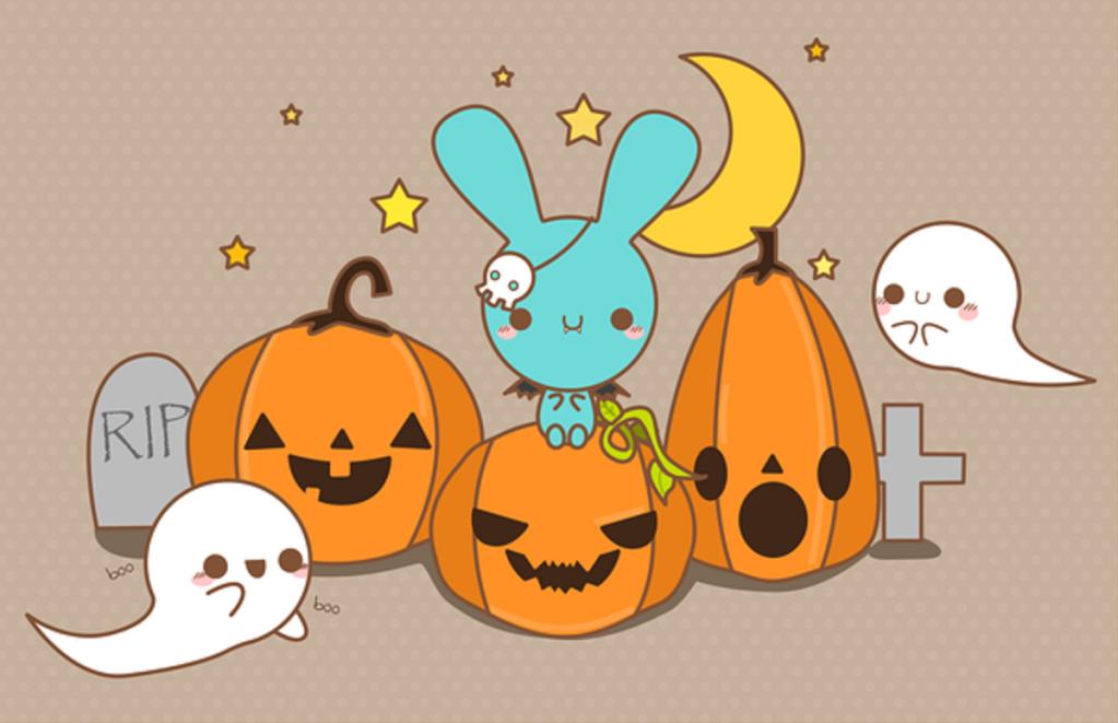 [47+] Kawaii Halloween Wallpaper on WallpaperSafari