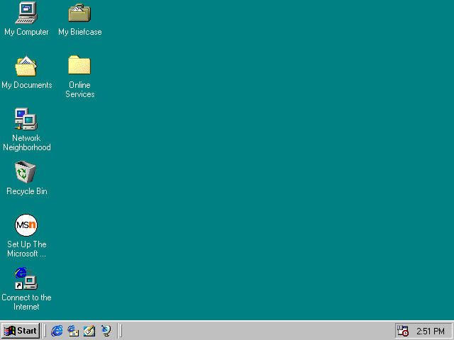 First run in Windows 98 The screenshot has an extra border remove 640x480