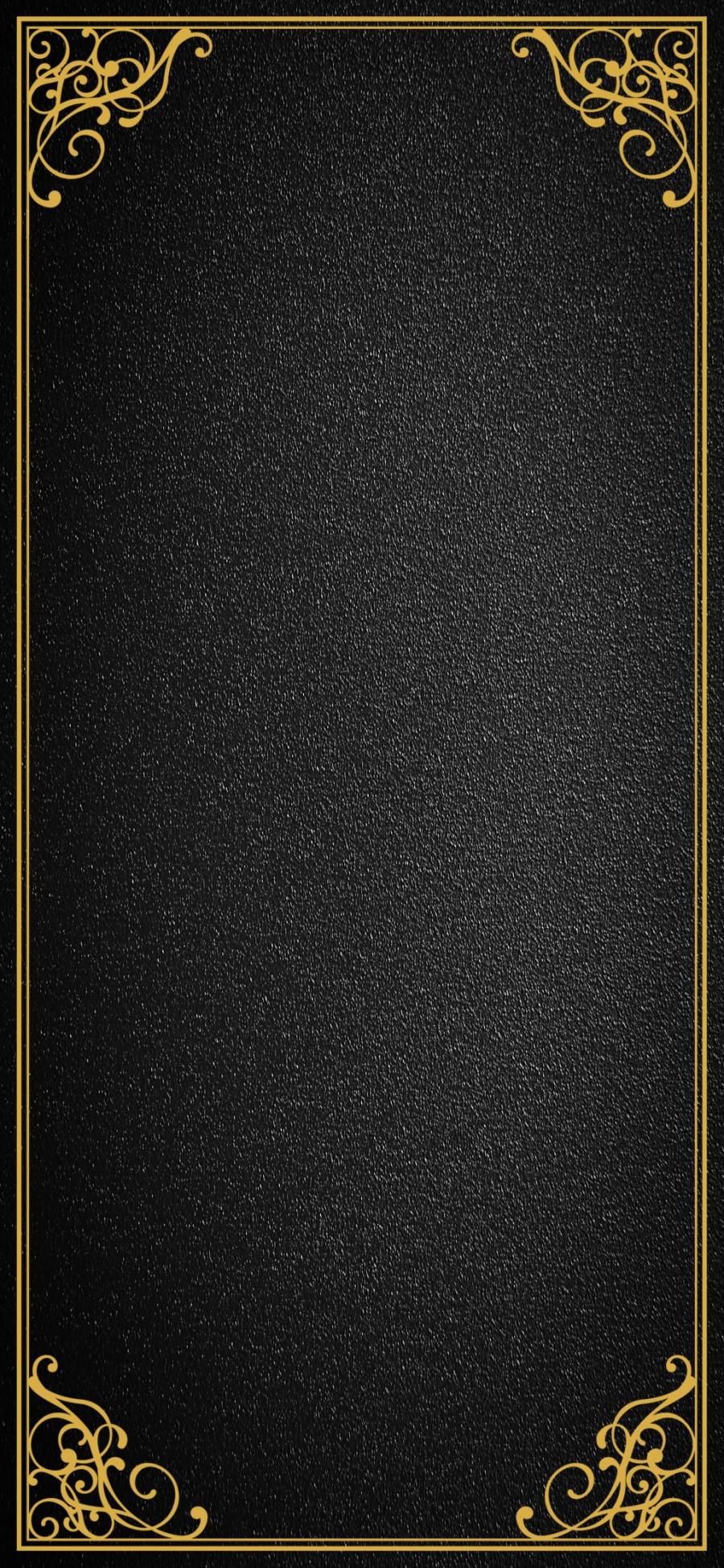 Birthday Invitation Black Gold Style Simple Fashion Background 900x1947