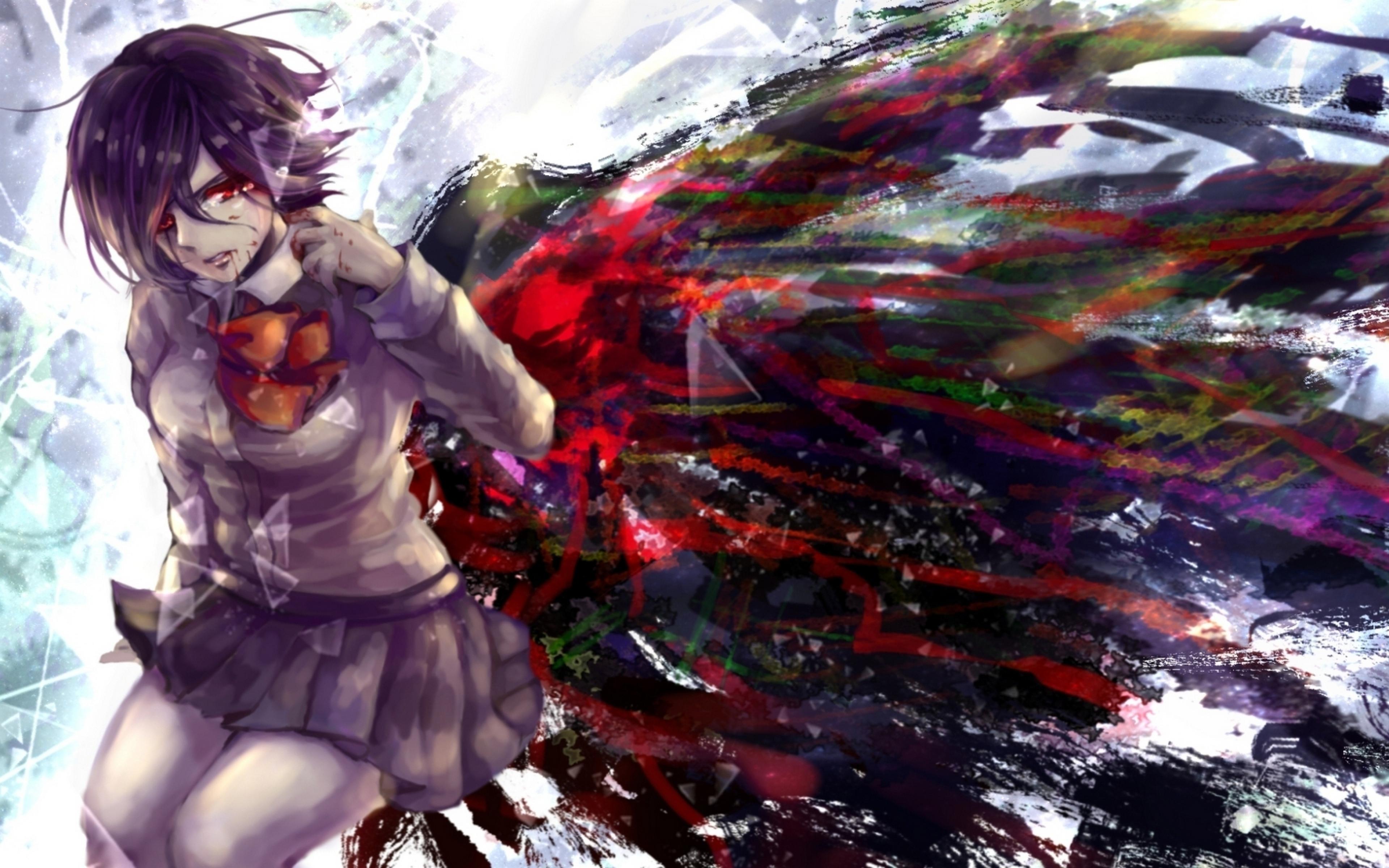 Mikoto Touka Kirishima Anime Tokyo Ghoul Wallpaper WallpapersByte 3840x2400