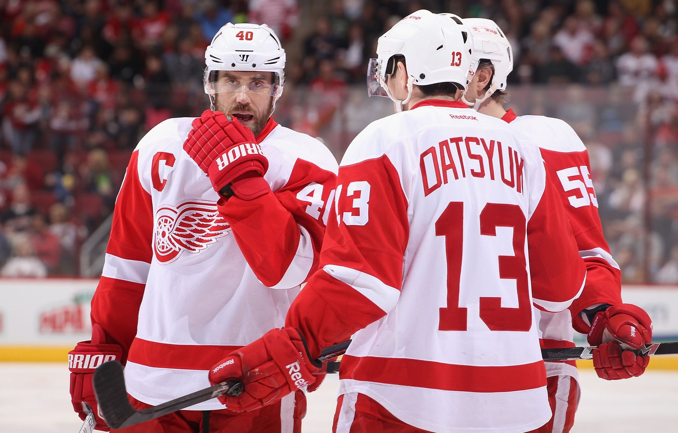 Wallpaper hockey Pavel Datsyuk The Detroit Red Wings images for 1332x850