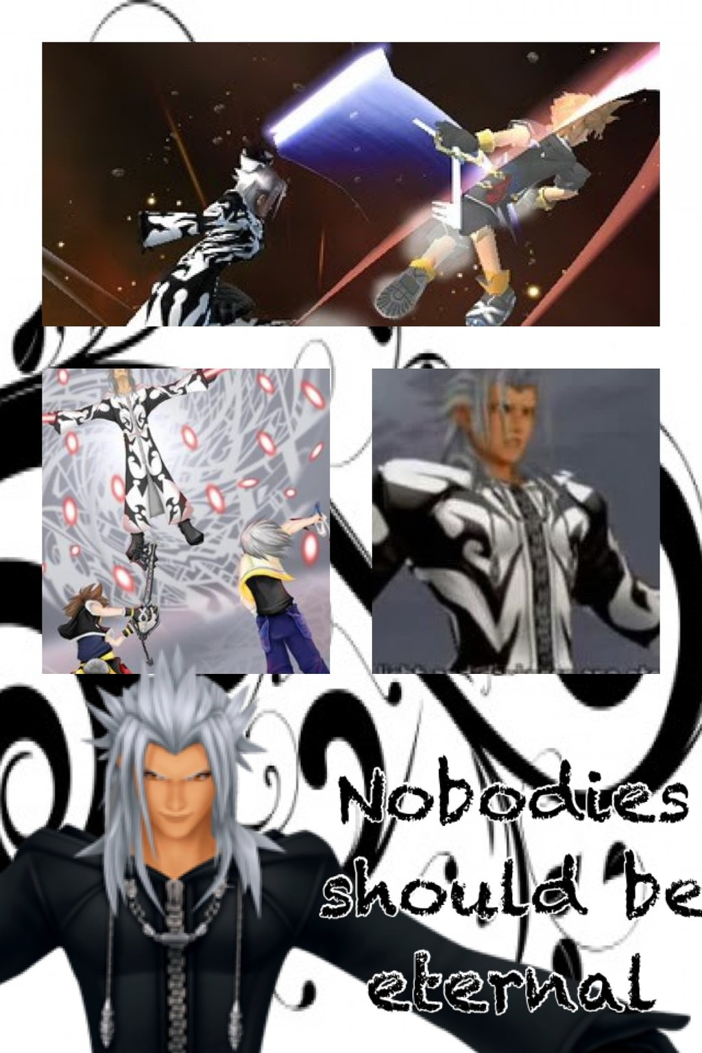 xemnas kingdom hearts wallpaper by mightymack1000 fan art wallpaper 1024x1536