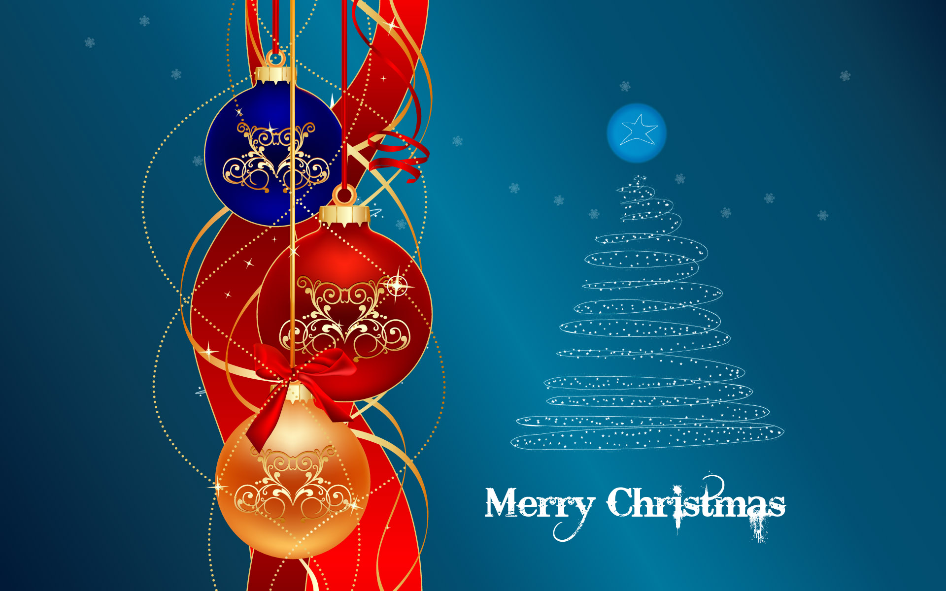 mas tree merry christmas wallpaper with decorated christmas tree in 1920x1200
