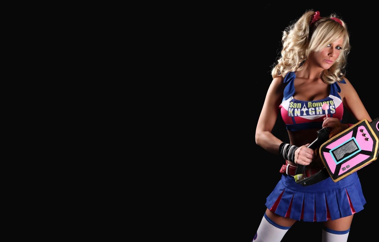 Wallpaper Blonde cosplay Lollipop Chainsaw Jessica Nigri images 1332x850