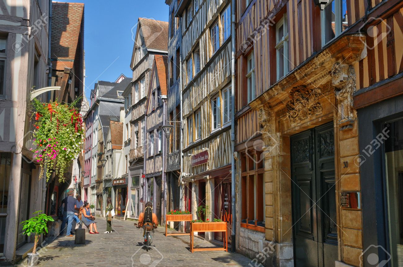 France The Old City Of Rouen In Seine Maritime Stock Photo 1300x861