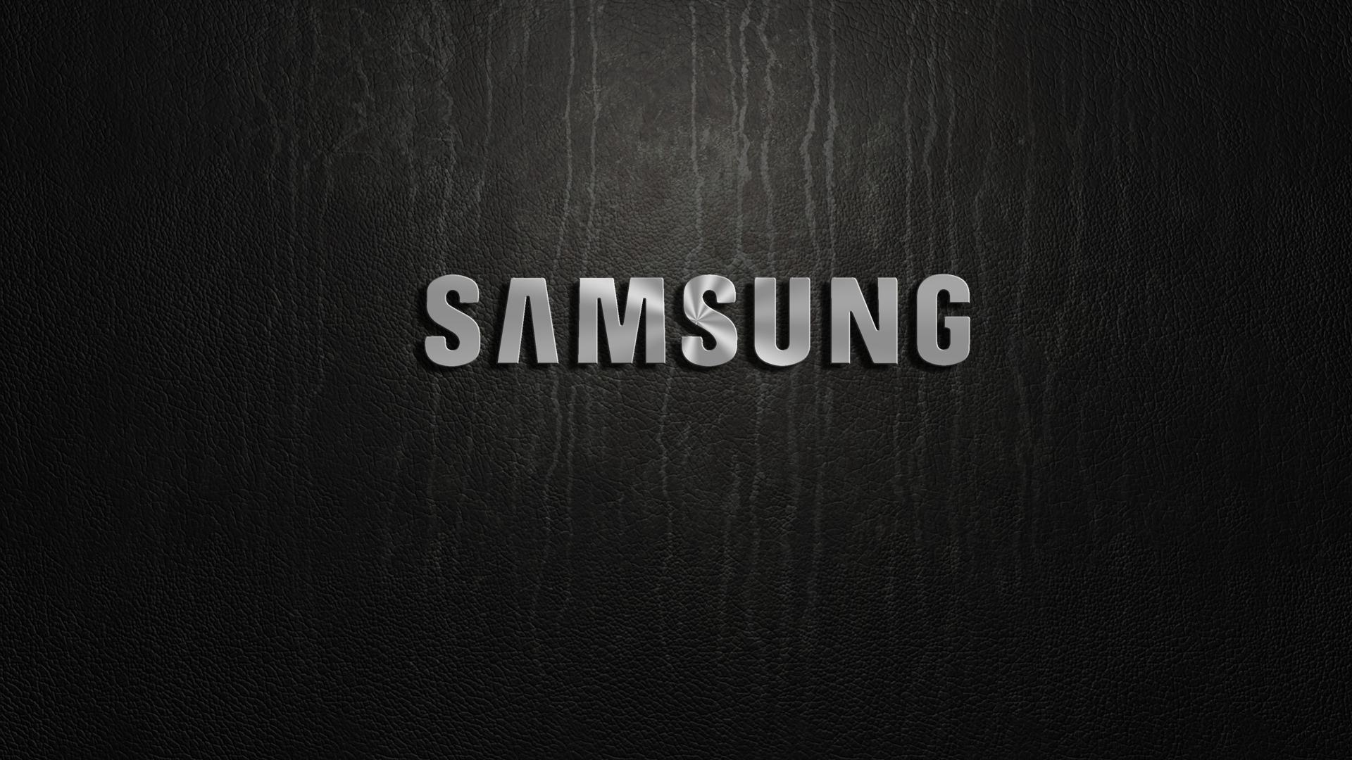 Download Wallpaper samsung silver logo section hi tech 1920x1080
