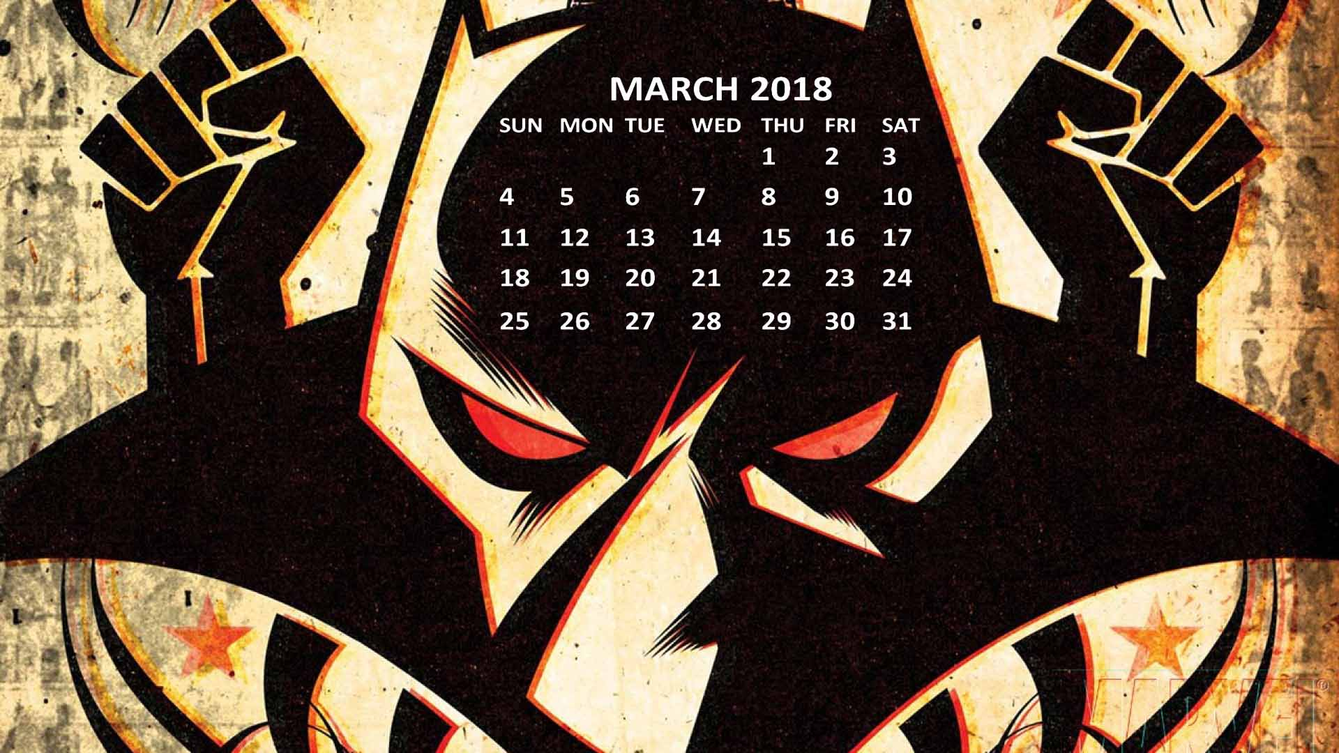 Black Panther 2018 Calendar Wallpapers CalendarBuzz 1920x1080