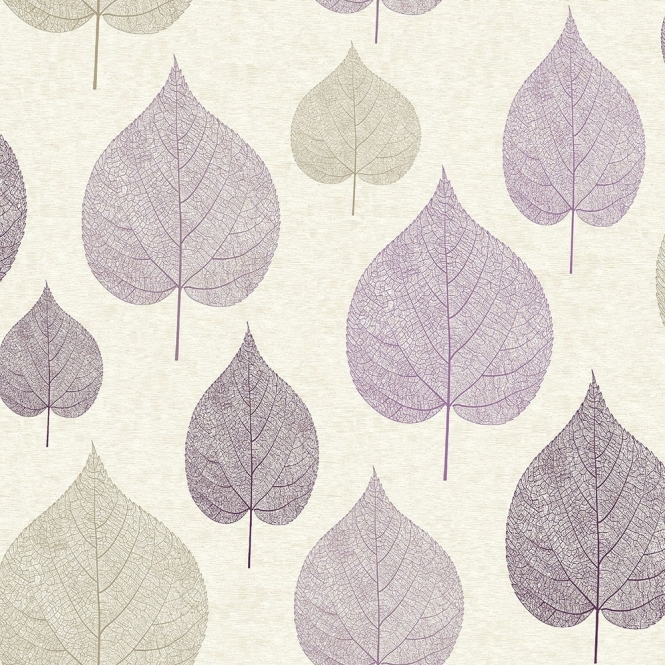 Home Wallpaper Crown Crown Signature Leaf Wallpaper Plum 665x665