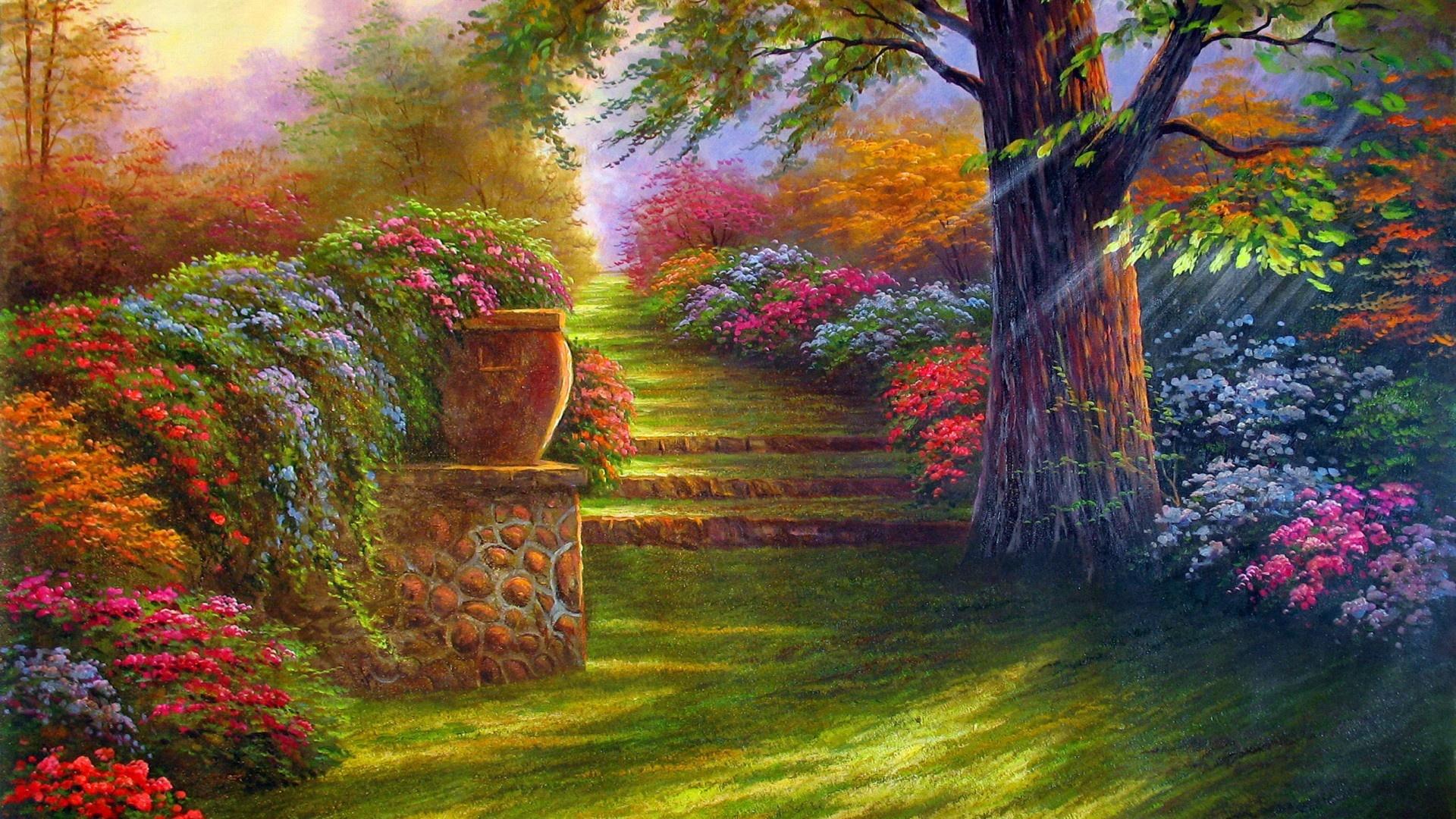 Flower Garden Wallpapers 1920x1080