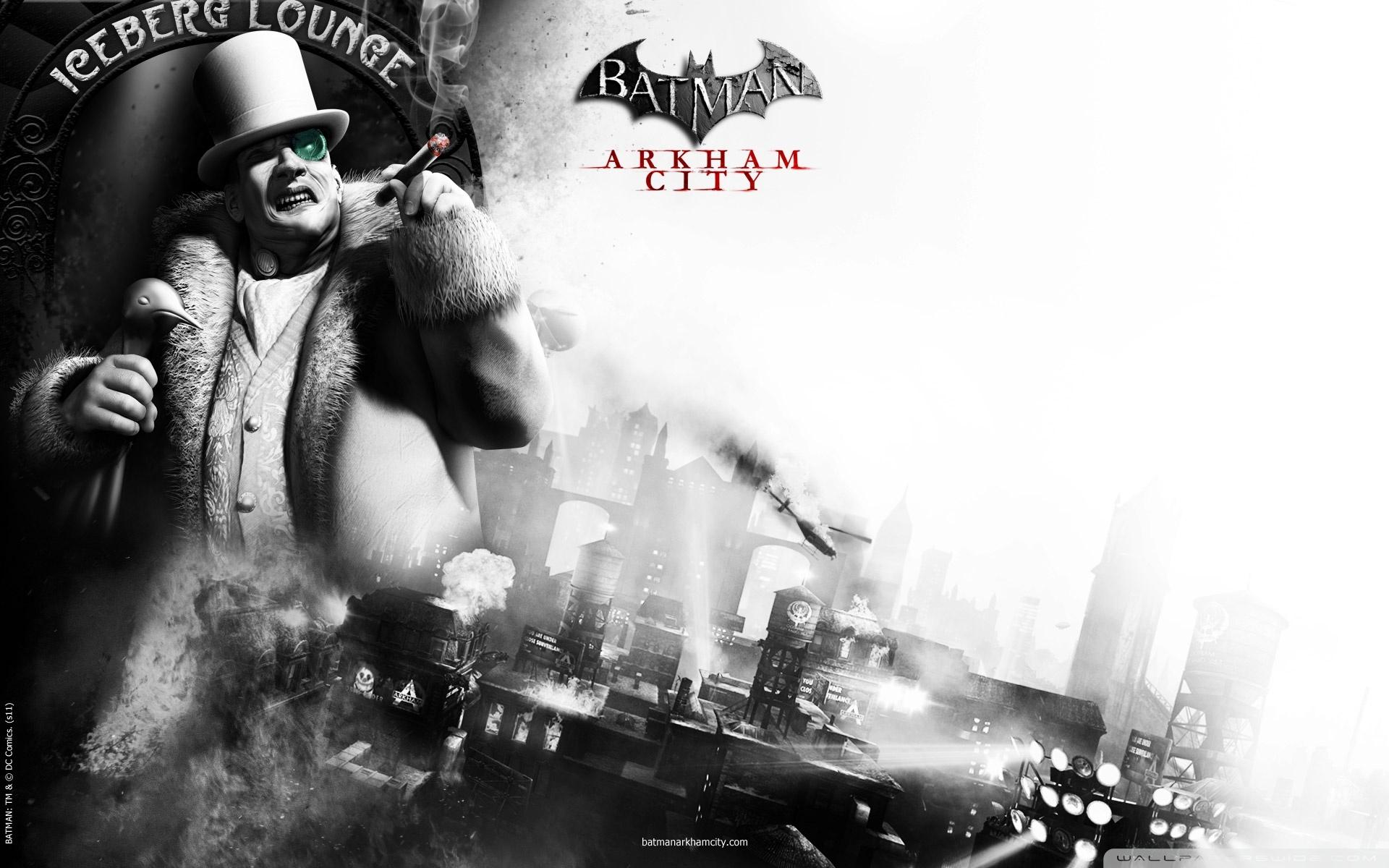 Batman Arkham City The Penguin 4K HD Desktop Wallpaper for 1920x1200