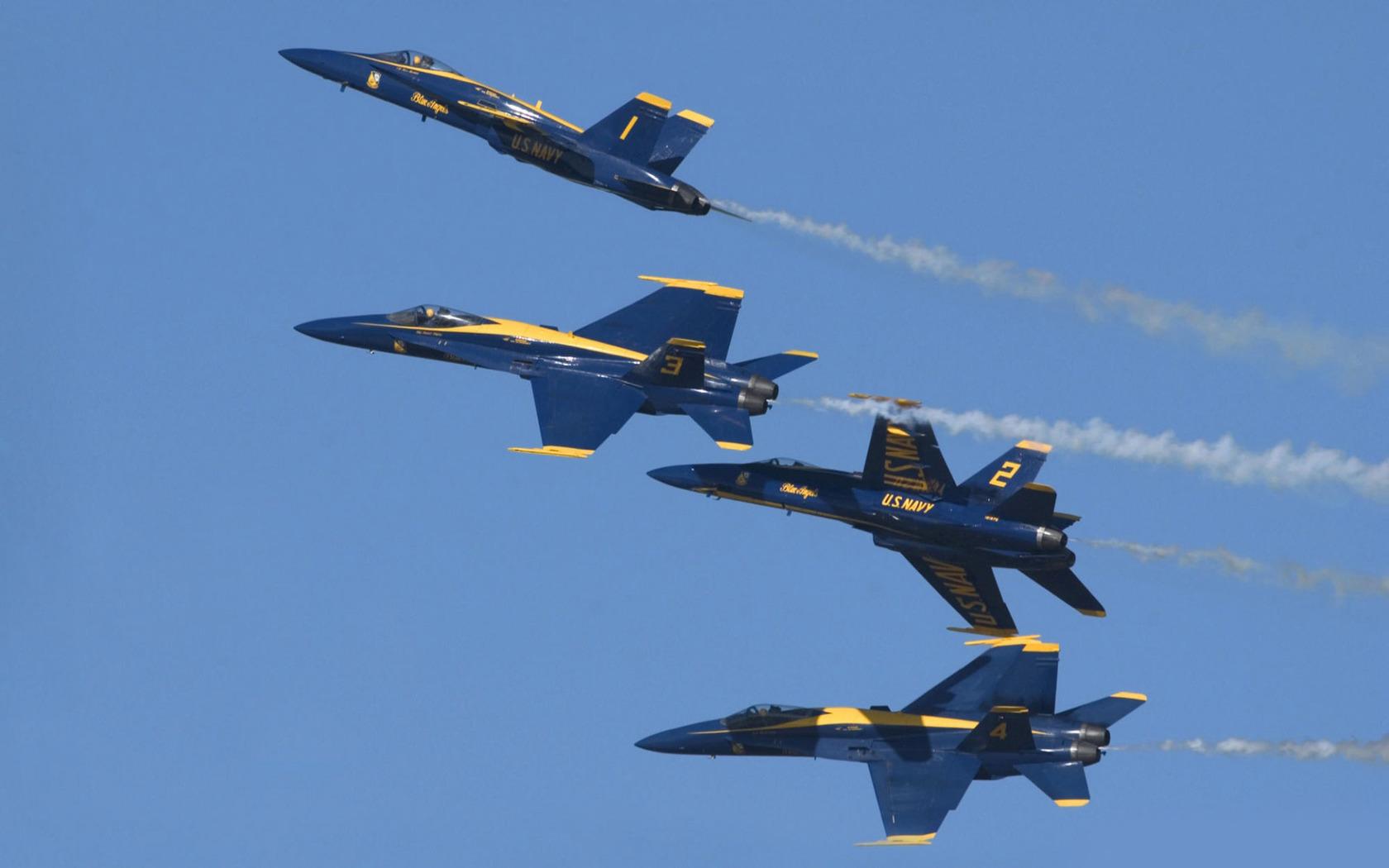 Download The Blue Angels McDonnell Douglas FA 18 Hornets wallpaper 1680x1050